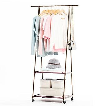 Removable Clothes Hanger & Floor Stand Coat Rack With Wheels, Hanging Clothes
