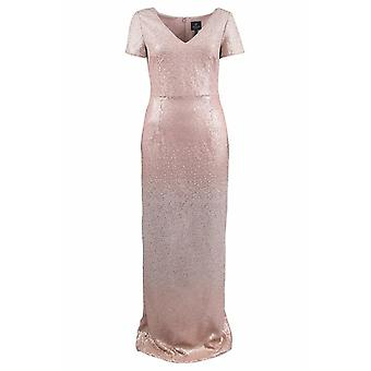 Ombre Sequin Column Gown