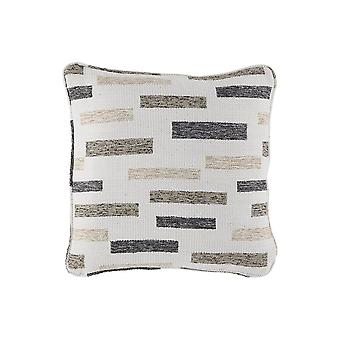 18 X 18 Polyester Accent Pillow With Block Stripes, Set Of 4, Cream And Brown