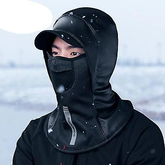 Zimní termální fleecová lyžařská větruodolná maska