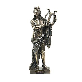 Classic Ancient Greek God Apollo Holding His Lyre Bronze Finished Tabletop Statue