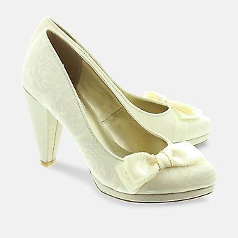 Susanna crema mujer zapato de tacón alto