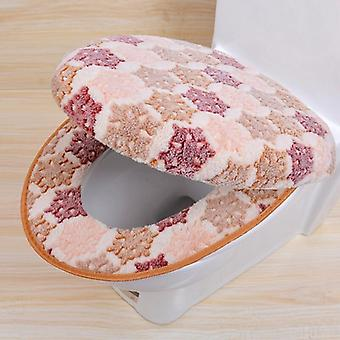 Warm Two-pieces O-shape Zipper Toilet Cover Seat