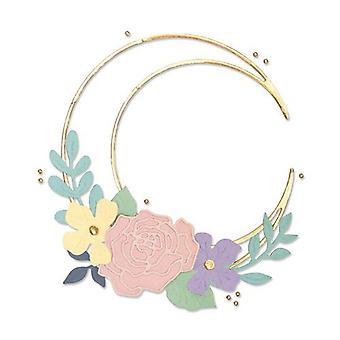 Sizzix Thinlits Die Set - 10pk Floral Crescent Moon Frame 665080 Lisa Jones