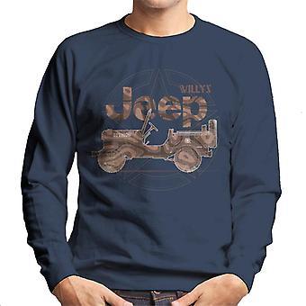 Jeep Willys MA Star Men's Sweatshirt