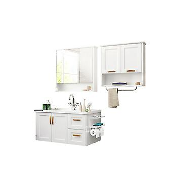 Cabinet Wall Cupboard Wall Cabinet Ceramic Washstand Wooden Toilet Mirror