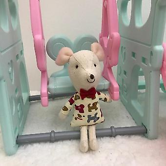 Mousemic Baby,, Animal Doll Rajzfilm, Soft Lovely Plüss Csecsemő Alvás Játék, Gyerekek