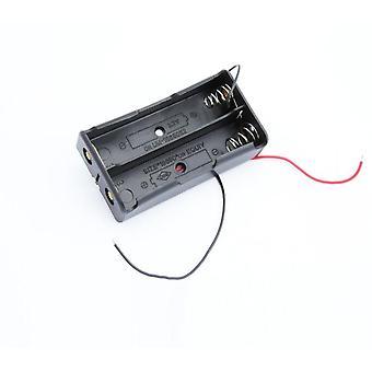 Multi-spor 18650/2 batteriklips hard base tilfelle holder parallelt med wire