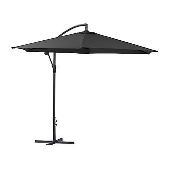 ILIOS Aluminium Eccentric Garden Sunshade - Circulaire - 3m - Noir