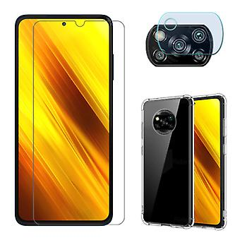 SGP Hybrid 3 in 1 Protection for Xiaomi Poco X3 Pro - Screen Protector Tempered Glass + Camera Protector + Case Case Cover