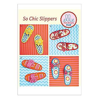 Kwik Sew Ellie Mae Sewing Pattern K178 0178 0608 Misses So Chic Slippers Size S-XL