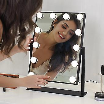 12 Leds touchs screen makeup mirrors espejo bath cosmetic mirrors with 9 led lights vanity mirror for bedroom compact mirror
