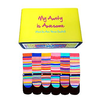 Awesome Aunty Gift of Assorted Oddsocks