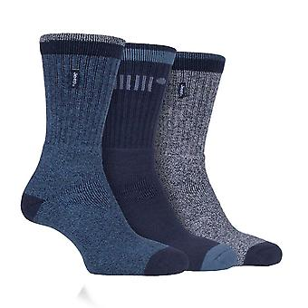 Jeep Mens 3 Pack Boot Socks Fully Cushioned Foot Combed Cotton Outdoors