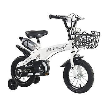 Bicicleta para niños con ruedas de entrenamiento, Niños Niñas Bicicleta 12 14 16 18 pulgadas Ruedas para edades de 2 años en adelante, Blanco Rosa Verde Naranja