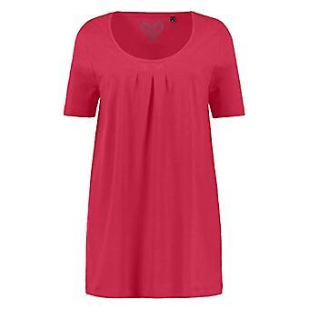 ULLA POPKEN Faltchenshirt Uni, A-Line T-Shirt, Color: Red, 50 Woman