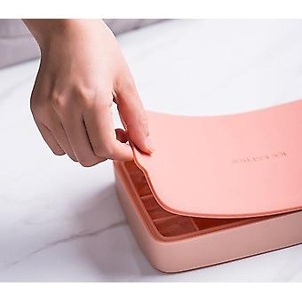 24 Grid Ice Cube Mold SiliconeTray Square Ice Tray Mould Easy Release Silicone( 21.8*13*3.2cm,red)
