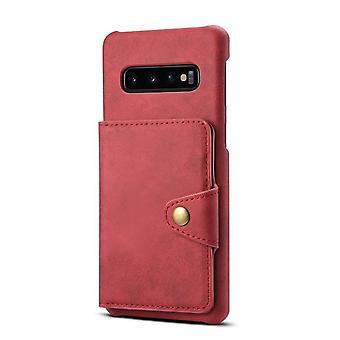Custodia slot per carte portafoglio in pelle per iphone xs/x pc rosso4927