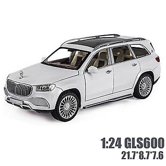 1:24 Maybach GLS600 Car Model Die Cast Alloy Boys Toys Cars SUV Model Car Collectibles(White)