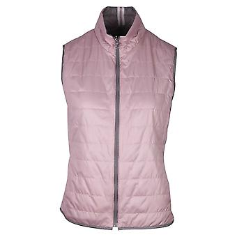 Just White Pink & Grey Reversible Sleeveless Quilted Gilet