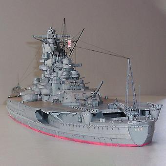 Battleship Diy 3d Paper Card Model Building Sets, Construction Educational,