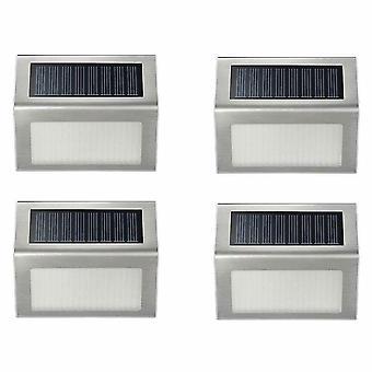 4Pcs warm white 3led solar lamp with smart lighting sensor rain-proof fence light az4617