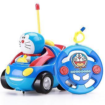 New Doraemon Remote Control Car Toy Electric Spring Toy Children's Toy Car ES12898