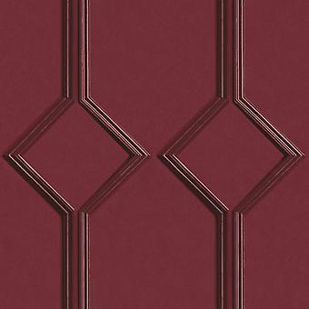 Azzurra Panel Red Wallpaper