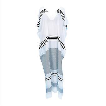 V צוואר קיץ ביקיני לכסות את פס מודפס שמלה ללא גב מפוצל בגדי חוף Kaftan