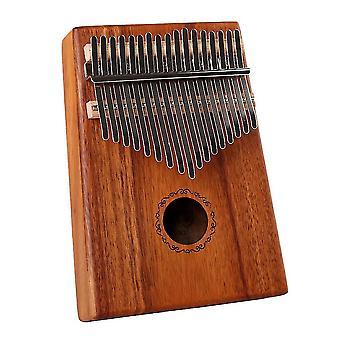 Kalimba Thumb Piano 17 Teclas Acacia Instrumento Musical Portátil Para Crianças