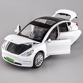 1:32 Seks-dørs legering bil modell tesla modell x med simulering lys og musikkleker for barn gave