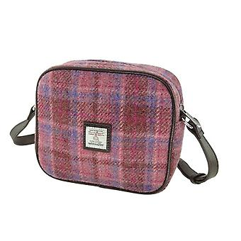 Glen Appin of Scotland Harris Tweed Almond Mini Bag In Pink Check Lb1210-col103