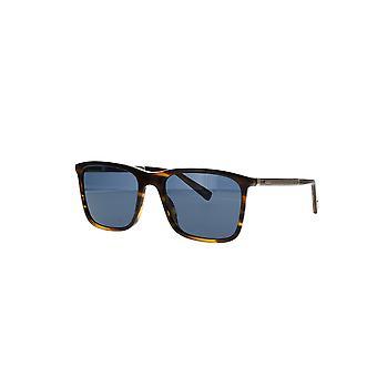 Chopard SCH280 9FMP glänsande randig brun Havanna / blå solglasögon