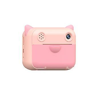 12 miljoner Pixel Leksakskamera Värmeutskrift Kamera HD Polaroid Kamera med fotoram lämplig för