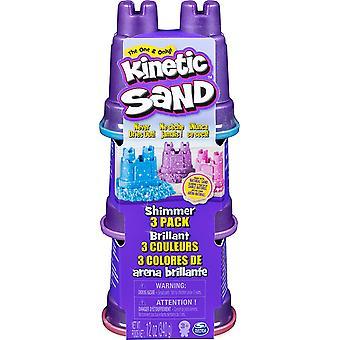 Kinetic Sand Shimmer Castle 3 Pack