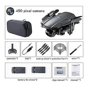 Mini dron 4k 1080p hd cámaras duales wifi fpv presión de aire altitud mantener negro y gris plegable