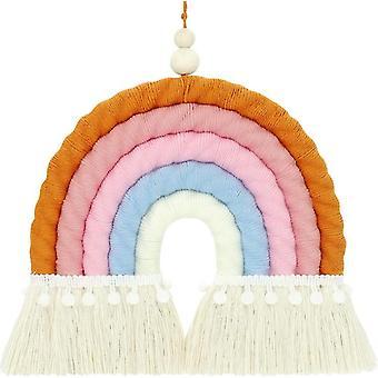 Arazzo arcobaleno intrecciato a mano stile nordico Nappa arcobaleno Decorazione del soggiorno