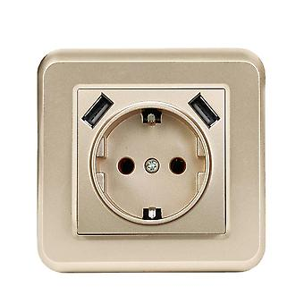 European Style Wall Socket Usb Charging Panel Switch 2.1a