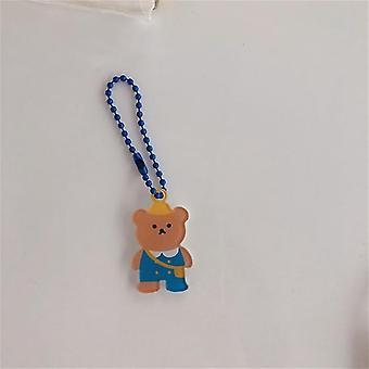 Koreai Ins Cartoon Angel Bear Cherry kulcstartó