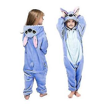 Niños Invierno Stich Pijamas Ropa de dormir Unicornio Onesies Niños Niñas Manta Durmiente Bebé