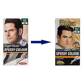 Bigen Men's Speedy Colour Brown Black #102