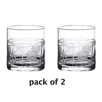 النبيذ الزجاج سحر 2pcs نظارات الويسكي الطراز القديم ممتازة للأواني الزجاجية كوكتيل 380ml بارواري