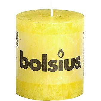 Candles rustic candle  parafin wax  sunshine yellow  short
