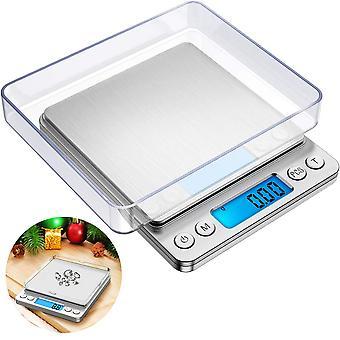 Balance de cuisine numérique, 500g / 0.01g Petite échelle de bijoux, Balances alimentaires