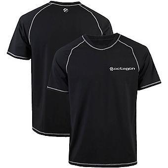 UFC Octagon Veloce Short Sleeve Athletic Top - Black