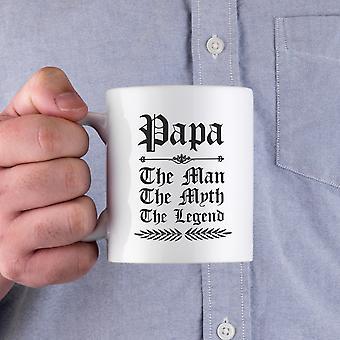 Vintage gotische Papa de Man de mythe, de legende keramische mok voor vader en grootvader