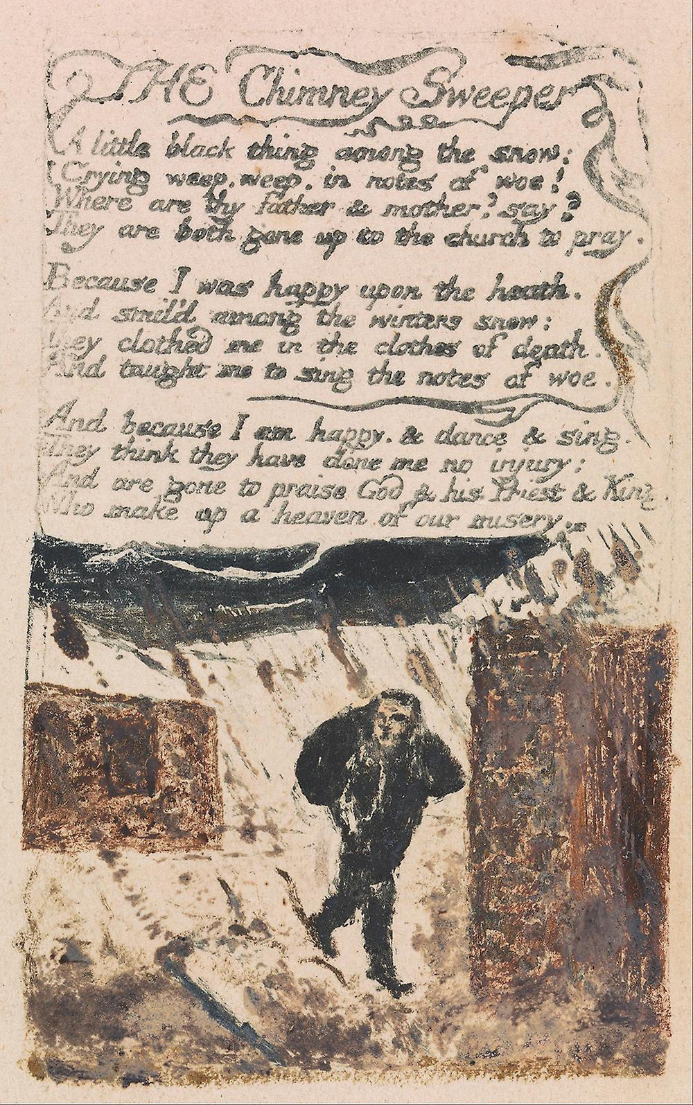 """william blake chimney sweeper thesis Read this essay on analysis of """"the chimney sweeper"""" by william blake come browse our large digital warehouse of free sample essays get the knowledge you need."""