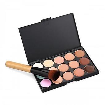 Boolavard 15 Colour Concealer Palette Kit Including Brush Face Makeup Contour Cream