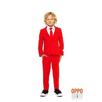 Red Devil des enfants rouges costume costume Opposuit slimline Premium 3-pièces jeu
