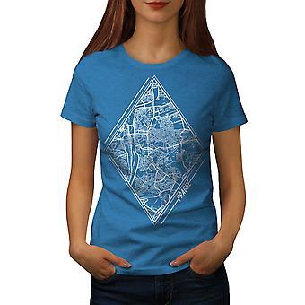 Czech Republic City Women Royal BlueT-shirt | Wellcoda
